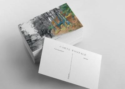 """exemple de carte postale """"Racines"""" de Van Gogh"""